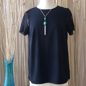 Michael Kors lovely lace sleeves top